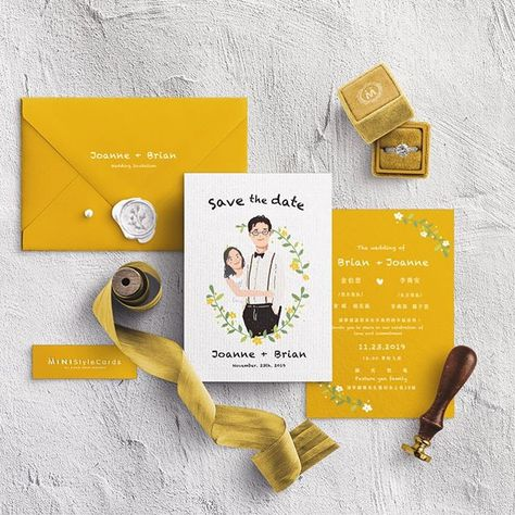 美式插畫喜帖 |Wedding Invitation