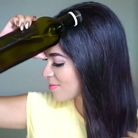 Aloe Vera and olive oil promotes Hair growth, helps with your hair loss and moisturize your hair Steps: Scrape the aloe gel out of the leaf Blend in the olive oil Then stir it all together  apply it and massage it all over your unwashed hair and scalp  you can use a plastic bag or shower cap if you want Leave on 45 minutes