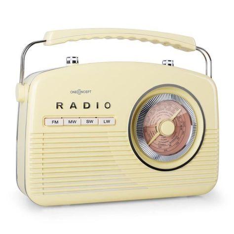 Radio Portable Super Elegante Dans Le Style Rockabilly Des Annees