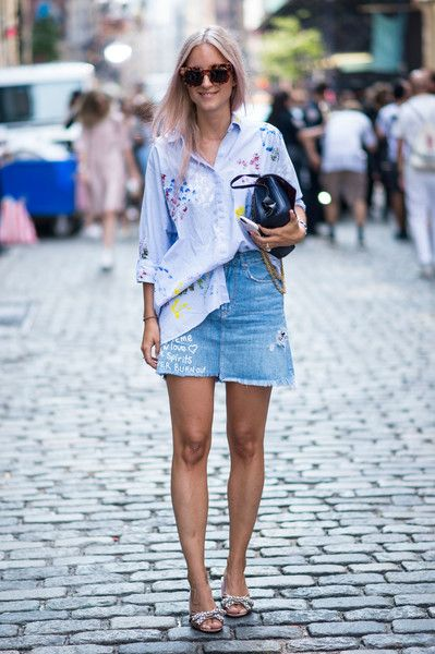 Paint Shirt - The Most Inspiring Street Style at NYFW Spring 2017 - Photos