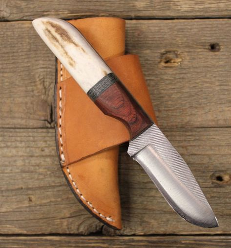 2 3 4 Blade Knife Rosewood Elk Handle Knife Making Knife Belt Knife
