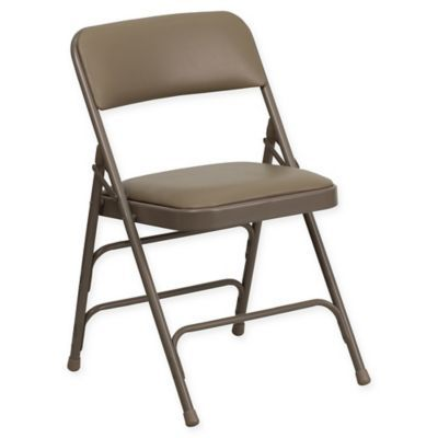 Flash Furniture 30 Inch Metal Folding Chair With Padded Seat In