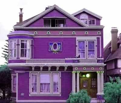 Desain Rumah Sederhana Minimalis Warna Ungu