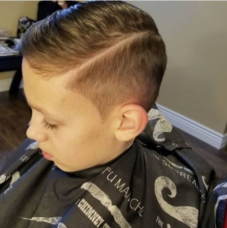 Side Swept Hairstyle With Hard Part And Side Fade Boy Haircuts Short Boy Hairstyles Boys Fade Haircut