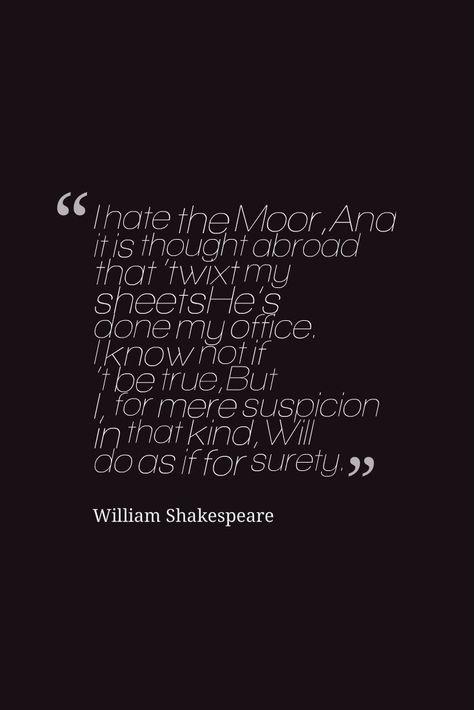Jealousy othello quotes iago Othello quotes