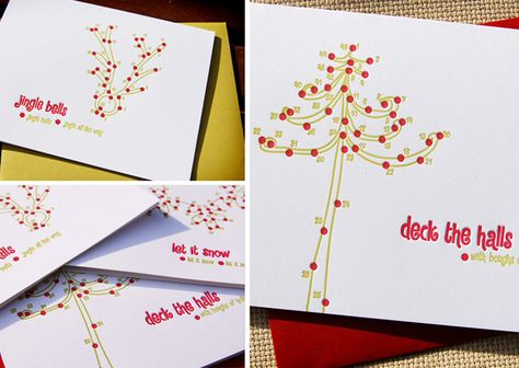 Connect the dots Christmas Cards!