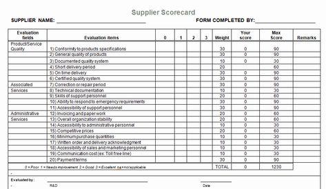 Vendor Evaluation Form Inspirational Supplier Evaluation Template