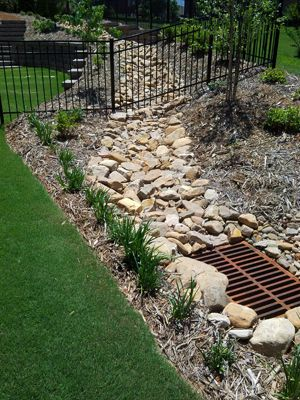 Superb Landscape Drainage #3 Landscaping Drainage Swale | Outdoors |  Pinterest | Landscape Drainage, Landscaping And Yards