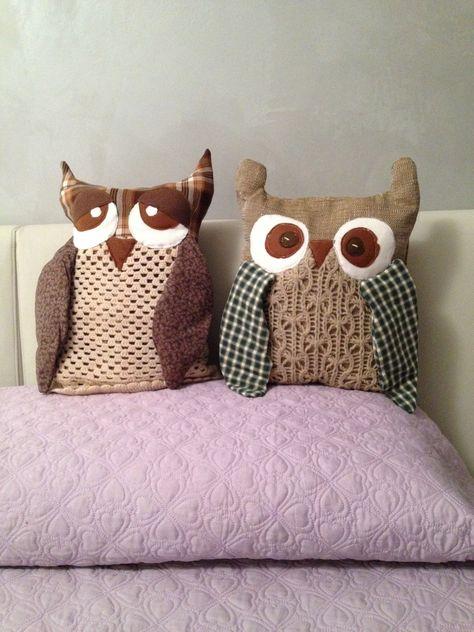 gufi cuscino