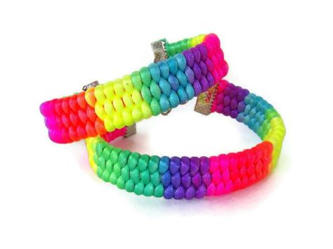 Rainbow Friendship Bracelet Weaved Paracord