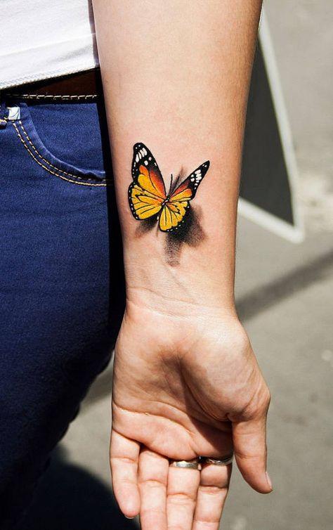 Resultado de imagen para 3D butterfly tattoo