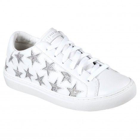 Skechers Side Street vrijetijdsschoenen dames white silver