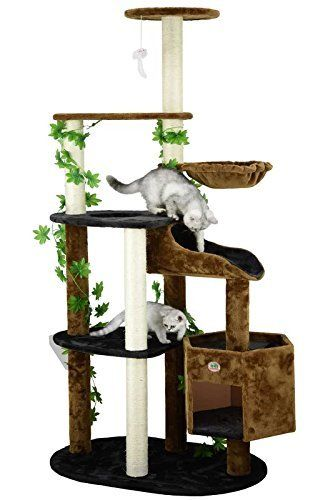 Amazon Cat Tree Tower With Condo Basket And Leaves Very Kind Of