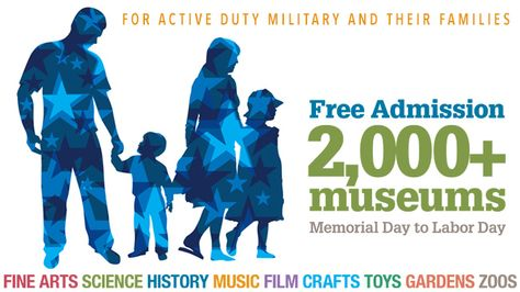 Looking for family activities this summer? All active duty military and their families can get free admission to several area museums now through Labor Day! Learn more at http://fllmag.com/free-museum-admission-for-active-military-families/