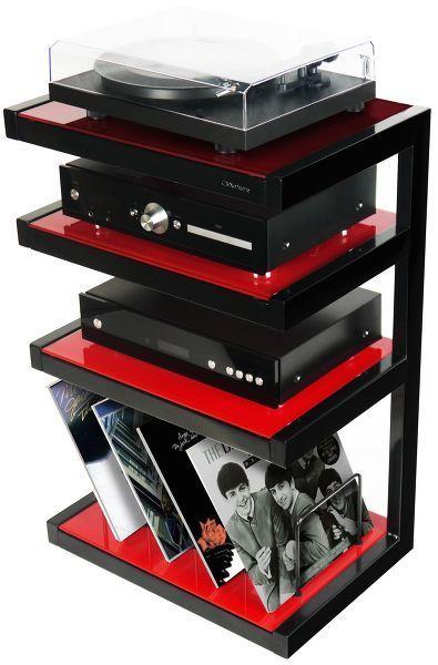 Esse Hi Fi Vinyl Noir Verres Rouges Audio Room Audio Rack Hifi