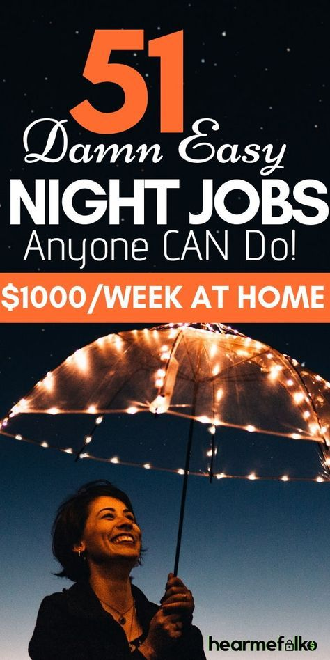 60 Best Night Jobs (Part-time Evening Jobs) In 2021