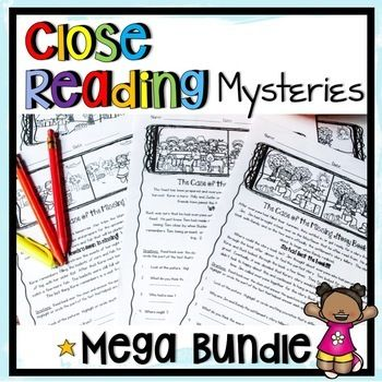 Close reading passages mysteries for comprehension practice
