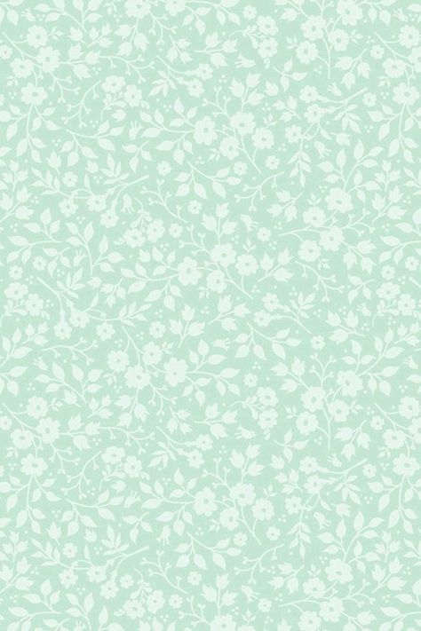 Pip Studio the Official website - Lovely Branches wallpaper green Cute Patterns Wallpaper, Trendy Wallpaper, Cute Wallpapers, White Background Wallpaper, Background Vintage, Artsy Background, Pattern Background, Mint Green Wallpaper Iphone, Mint Green Aesthetic