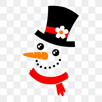 Snowman Face With Black Hat Snowman Snowman Face Frosty Face Png And Vector With Transparent Background For Free Download Snowman Faces Winter Snowman Snowman