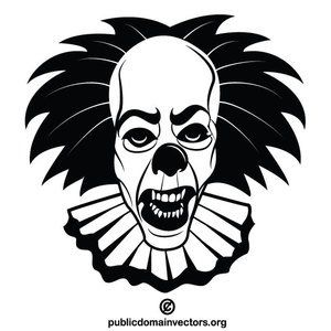 45+ Clown Clipart Black And White