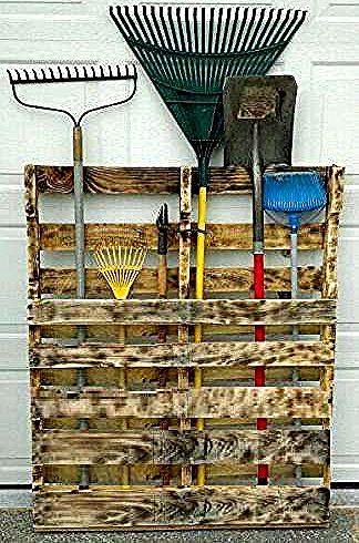 Un Porte Outil En Palette Pour Les Outils De Jardinage 23 Projets