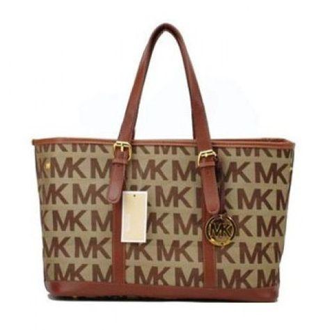 713cdf128ab michael kors france grand MK Logo Apricot fourre-tout vente en ligne jusquà  70% de réduction