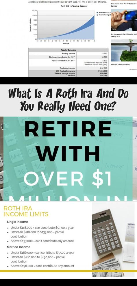 Learn How To Retire With Over 1 Million Dollars In The Bank Using A Roth Ira Al In 2020 With Images Roth Ira Budgeting Finances Roth Ira Calculator