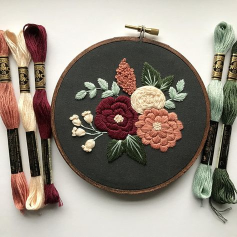 Hand Embroidery Kit, Custom Hoop Art, Craft Kit, Beginner Wall Art, Modern Embroidery, Beginner Embroidery Kit, DIY Gift, Hoffelt and Hooper