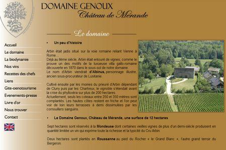 Developpement Du Site Vitrine Domaine Genoux Creation Logo Et De Cartes Visite Genouxfr