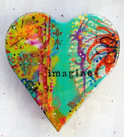 Resined heART Art... Imagine by artpassion on Etsy