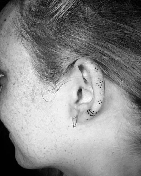 Dainty Dots - Helix Ear Tattoos That Are So Much Better Than Piercings - Photos