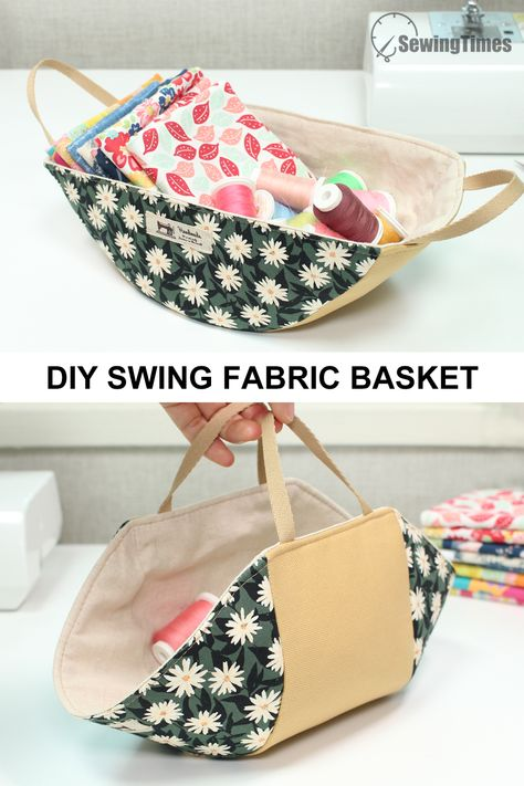 Small Sewing Projects, Sewing Crafts, Diy Gifts Sewing, Fabric Basket Tutorial, Patchwork Tutorial, Fabric Box Pattern, Fabric Patterns, Fabric Storage Bins, Bag Storage