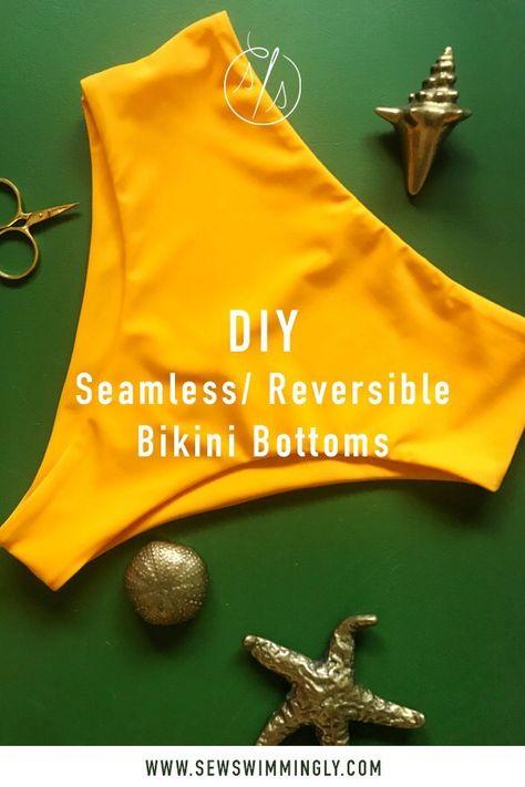 DIY Seamless Reversible Bikini Bottoms