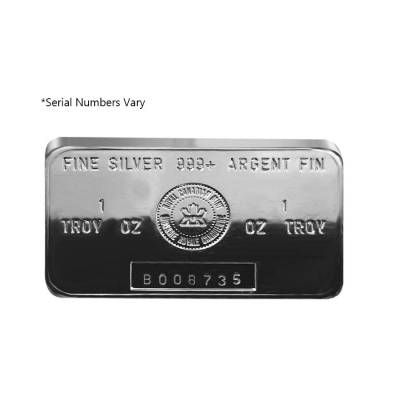 1 Oz Royal Canadian Mint Rcm 999 Fine Silver Bar Bullion Bullionexchanges Preciousmetals Invest Stack Collec Silver Bars Fine Silver Silver