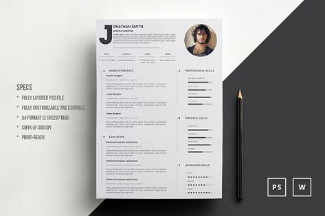 2 Pages resume \ Cover by sz81 on @creativework247 Resume - resume 2 pages