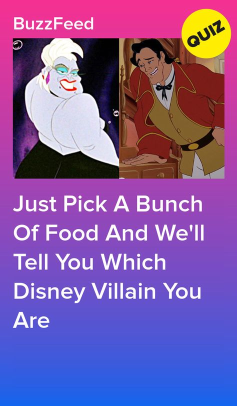 Just Pick A Bunch Of Food And We'll Tell You Which Disney Villain You Are