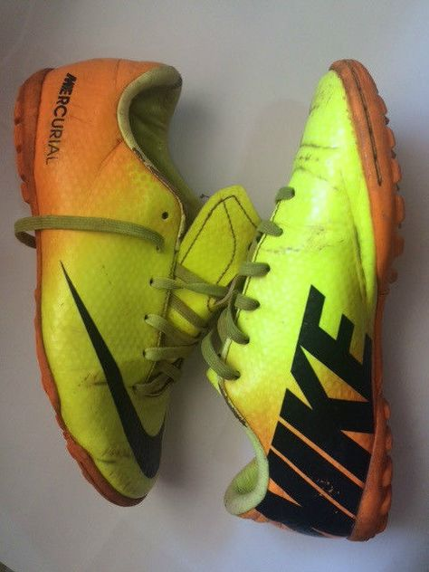 orange and silver nike football boots