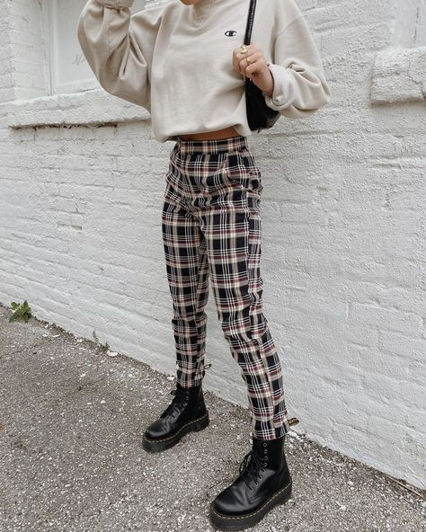 """#Bandit #bone #Girl #Grey #Instagram #loving #Nata #Plaid Grey Bandit on Instagram: """"Plaid to the bone 😎🖤 loving how our girl Natalie Zacek styled our newest Hard to Forget Plaid Pants. A necessity this season! // tap to…"""""""