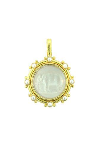 St Tamara Of Georgia Religious Round Medal Silver Tone Pendant with Rhinestones