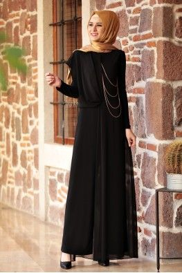 Rana Zen Zen Tulum Siyah Elbise Modelleri Moda Stilleri Elbise