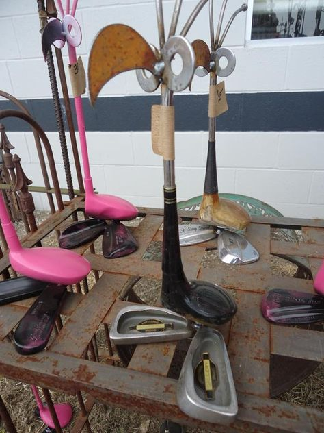 For the love of golf, these amazing waterfoul were made from old clubs.