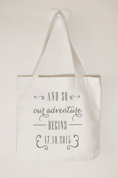 Wedding Gifts Diy Canvas Tote Bags
