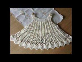 Vestido A Crochet Para Niñas De 1 Año Youtube Vestidos