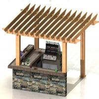 Outdoor Kitchen Pergola Bar Would Be Cool For Daddy Mom Julie Dodd