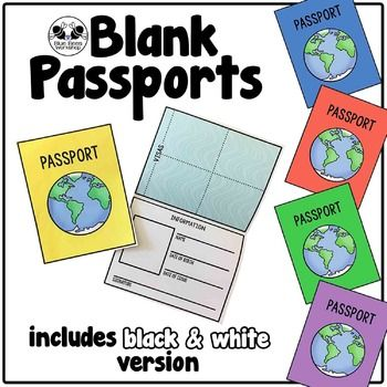 Blank Passport Template With Images Passports For Kids