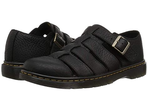 3d9e57248f3 Dr. Martens Fenton (Black Grizzly) Men s Sandals. The Dr. Martens Fenton is  a modern update to the classic summertime grunge fisherman sandal.