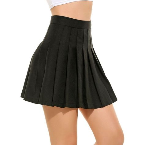 00c6f9baf6 Lomon Women Elegant Sexy Summer High Waist Pleated Mini Short Skirt ( 15) ❤  liked on Polyvore featuring skirts