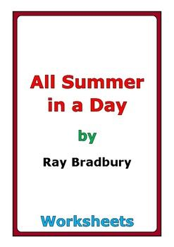 picture about All Summer in a Day Worksheet titled Ray Bradbury \