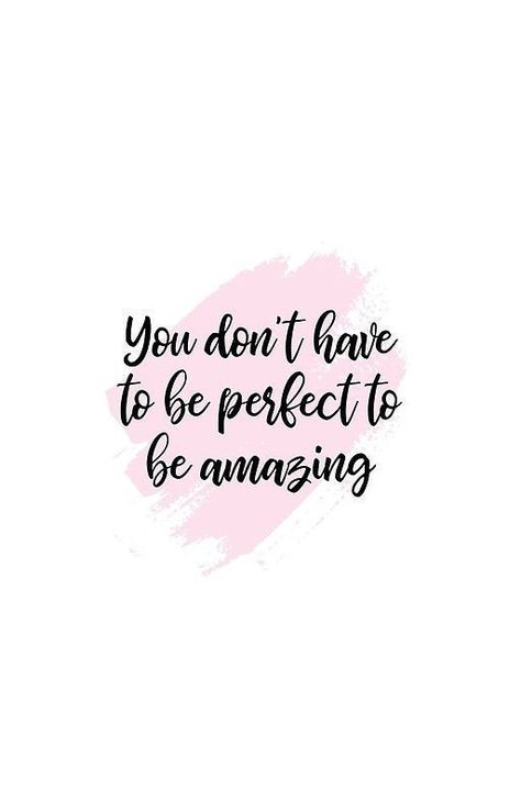 'Quote - You don't have to be perfect to be amazing' iPhone Case by HelenDesignXO