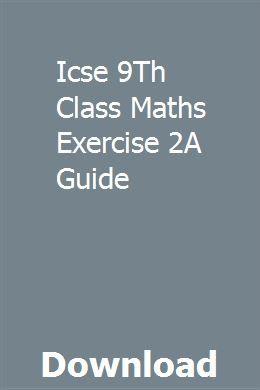 9 class maths guide